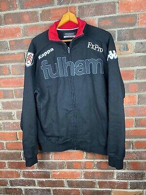 Kappa Jacket Large Mens Vintage Fulham FC Soccer Zip Up Coat Black