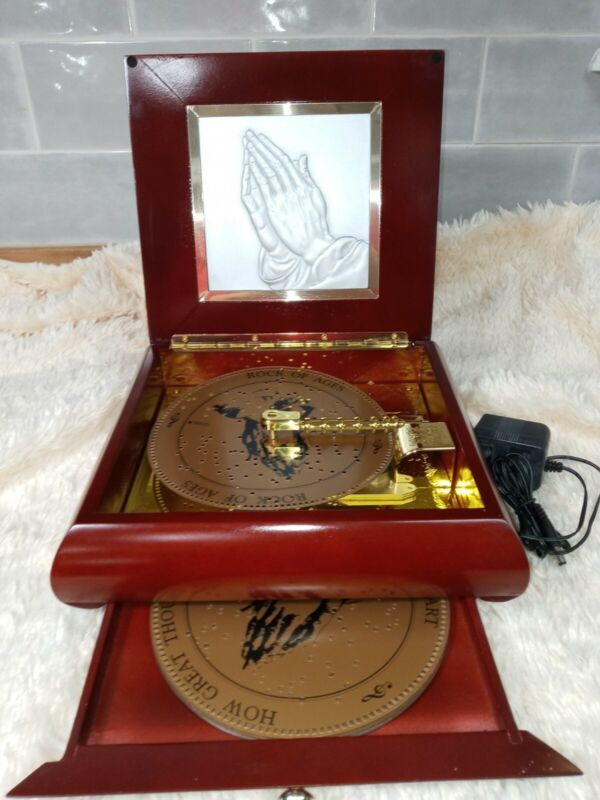 Mr Christmas Gold Label Inspirational Symphonium Music Box w/ 10 Discs