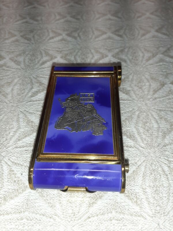 Vintage US Occupation Zone WWII Blue Enamel Compact Manicure Set