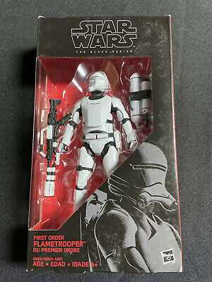 "Hasbro Star Wars The Black Series 6"" First Order Flametrooper Action Figure # 16"