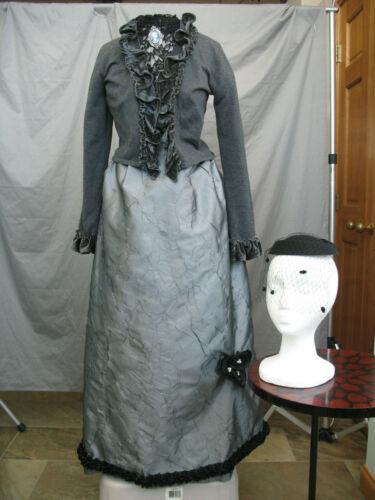 Victorian Dress Edwardian Costume Civil War Reenactment 1800
