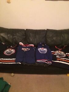 Oilers jerseys and shirts $100 obo