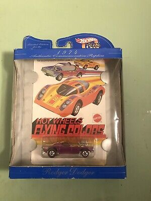 Hot Wheels Flying Colors 1974 Rodger Dodger Replica Redline 30 years 1968-1998