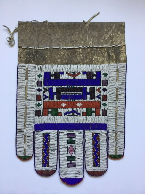 Ndebele Beaded Wedding Apron South African Art Vintage