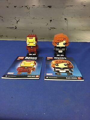 LEGO (LOT OF 2) BrickHeadz Marvel 41590, 41591 (COMPLETE w Instructions)