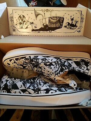 Nightmare before christmas Vans Shoes comfy cush black and white checkered sz 13 ()