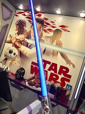 Disney Parks Star Wars Exclusive Rey Force FX Blue Lightsaber w/ Removable Blade