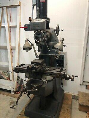 Bridgeport 110vac M Head Variable Speed Spindle Round Arm Style Mill Machine