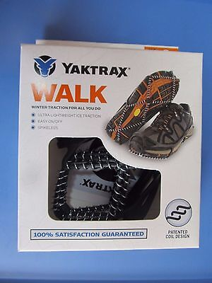 Yaktrax Walk Traction Cleats for Walking on Snow/Ice Size L #08601  NEW