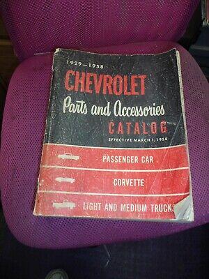 Vintage 1929 1958 CORVETTE Parts and Accessories Catalog Book Pickup Truck