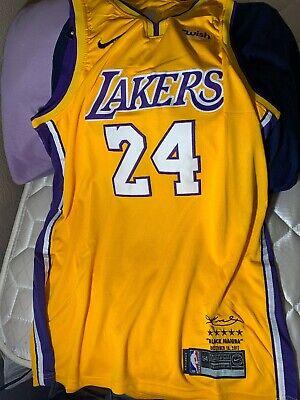 Kobe Bryant jersey #24 yellow Men Large  Nike L City Lore Series Lakers 50