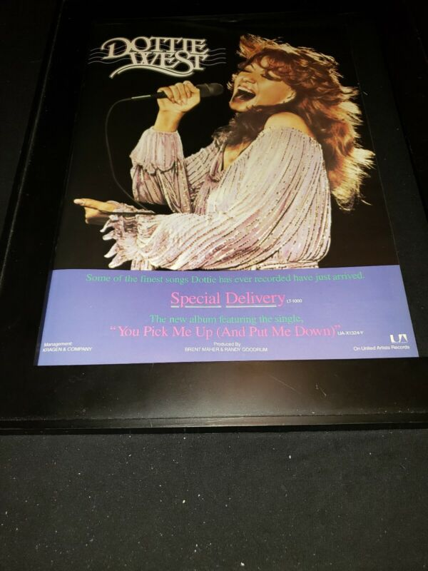 Dottie West Special Delivery Rare Original Promo Poster Ad Framed!
