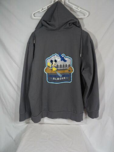 Disney Wonder Cruise Lines Alaska 2020 Hooded Zip Up Fleece Jacket adult XXL