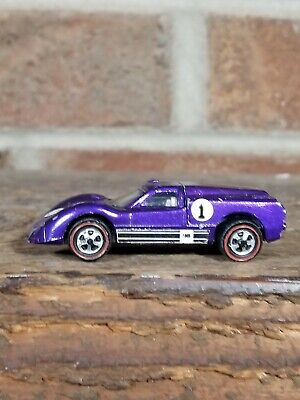 Redline Hotwheels Purple 1968 Ford J Car
