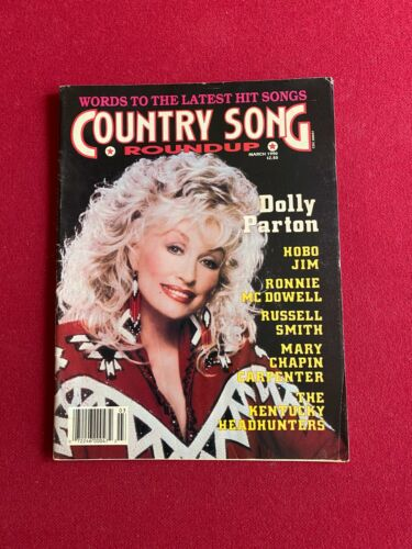 "1990, Dolly Parton, ""COUNTRY SONG ROUNDUP"" Magazine (No Label)  Scarce /Vintage"