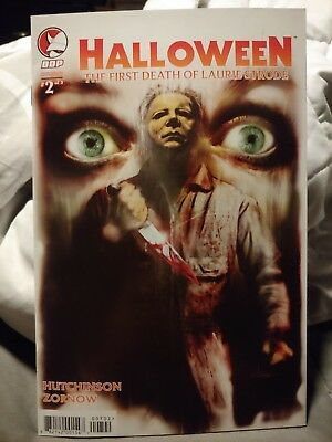 Halloween Comic book the first death of Laurie Strode cover 2B unread condition - Laurie Strode Halloween 2