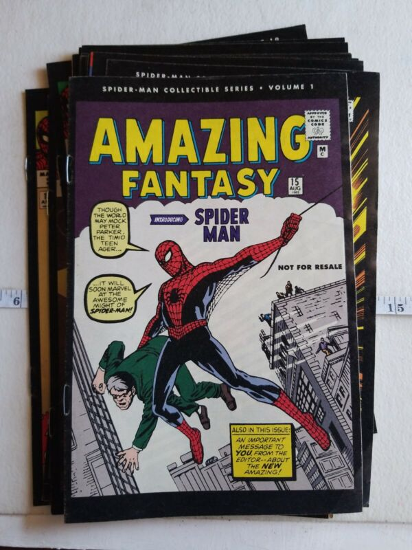 Spider-Man Collectible Series Comic Book Lot Of 24 (1962 - 1964) Reprint 2006