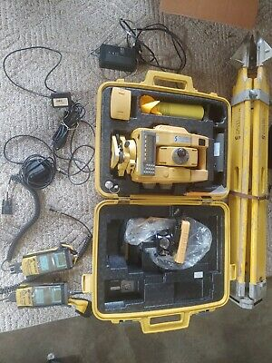 Topcon Gts-825a Robotic Surveying Total Stationtrimblesokkialeicaone Man