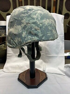 US Army ACH Advanced Combat Helmet w Cover Used 2008 Afghanistan Campaign L/XL