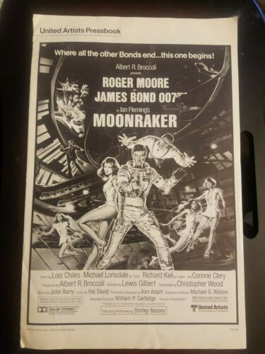 Vintage MOOKRAKER Press Book *1979 James Bond 007