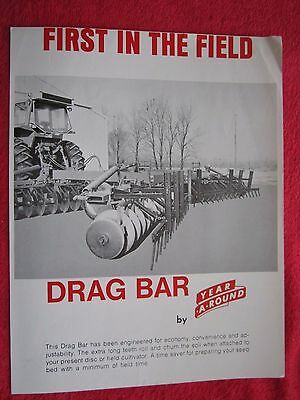 Vintage 1976 Year-a-round Disk Field Cultivator Drag Bar Brochure
