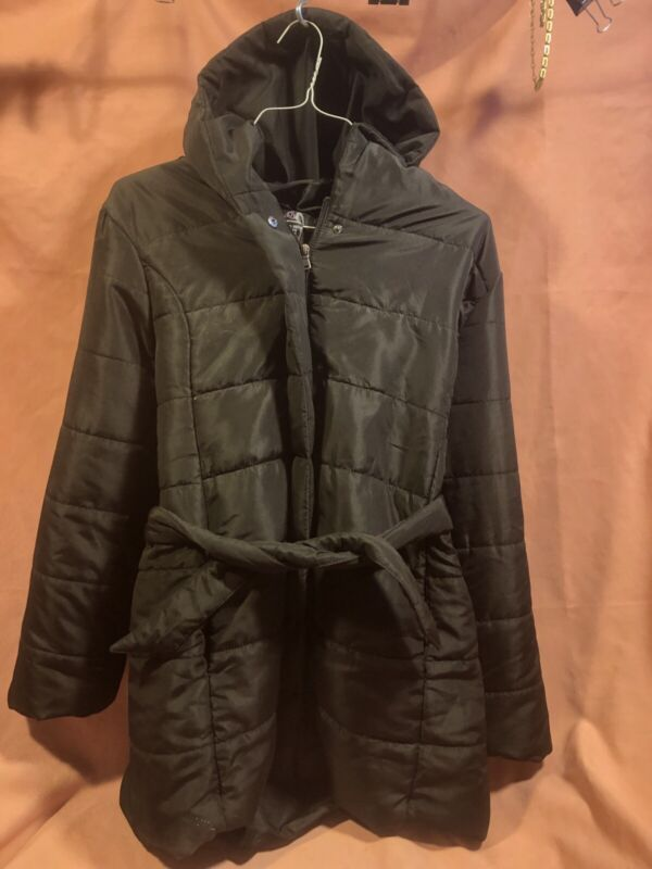 Winter HOODED MATERNITY COAT XL Black Motherhood by Oh Baby!