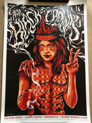The Black Crowes November 15th 2008 Birmingham, AL Poster Numbered Ken Taylor