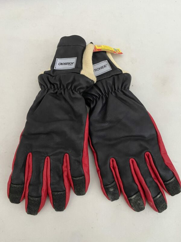 NEW Ex Fire & Rescue Firemaster Fusion Pyrohide Crosstech Gore-Tex Leather Gl...