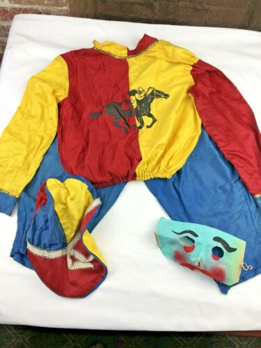 Vintage Halco Horse Racing Jockey~Halloween Costume Childrens Medium