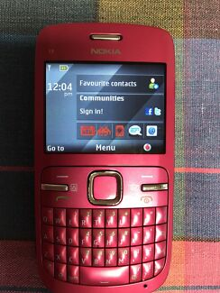 Nokia C3-00 Mobile Phone Hot pink