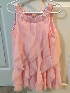 Pink ruffles with sparkly neckline - perfect comdition