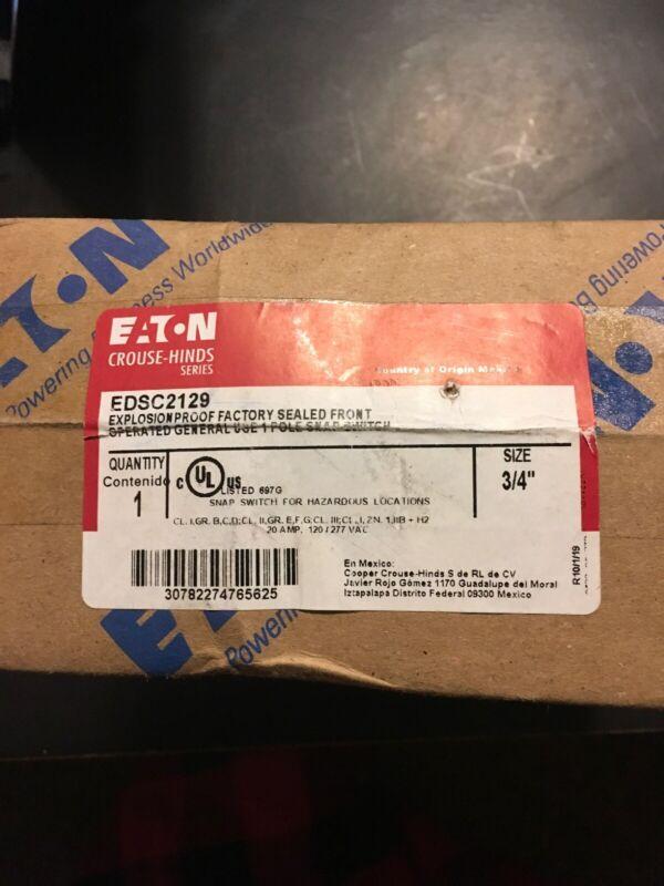Cooper Crouse-Hinds Explosion Proof Hazardous Location Snap Switch EDSC2129