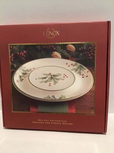 Lenox HOLIDAY GATHERINGS BERRY Cracker And Cheese Server NEW