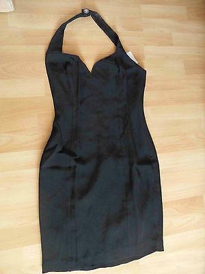NICOLE MILLER USA chices Neckholderkleid schwarz Gr. S TOP BB1114 Rotes Neckholder Top Kleider