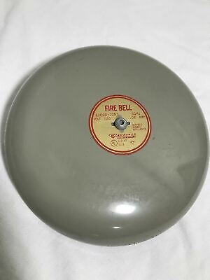 Edwards 6200d-10n5 120v 60hz .04a Fire Bell Slight Rust On Top See Pics Nos