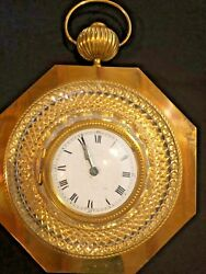 Vintage Mid Century CH Hour France Wall Clock French Brass quality