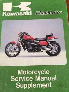 Rare 1985 Kawasaki ZL900 Motorcycle Service Manual Supplement
