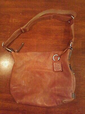 Caramel Brown Soft Italian Leather Ellington Sadie Crossbody Hangbag Discontinue