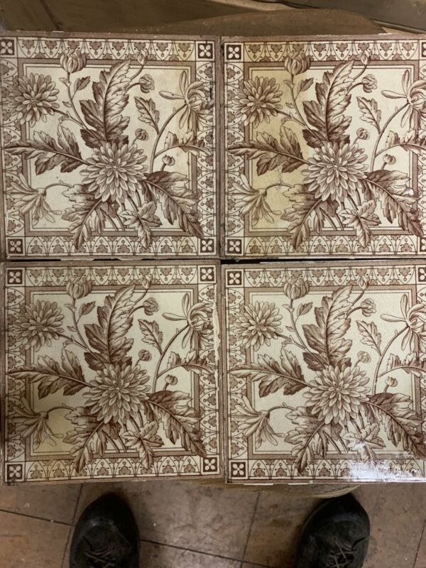Four Victorian Fireplace Tiles