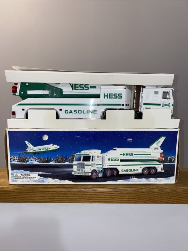 Vintage NIB 1999 HESS Toy Truck & Space Shuttle With Satellite