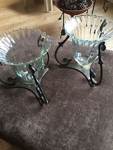 2 candle holders partylite