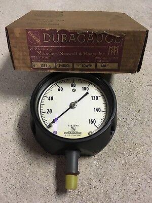 New 4 12 Ashcroft Duragauge Steampunk Pressure Gauge Phenol 0 To 160 1279 S