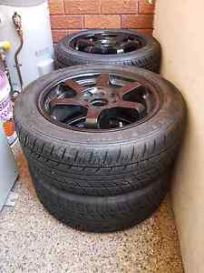 "Te37 style 15"" rims, (4x100 & 4x114.3) new tyres Wiley Park Canterbury Area Preview"