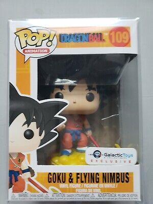 Goku On Nimbus Galactic Toys Exclusive Funko Pop W/ Original Sticker / Protector