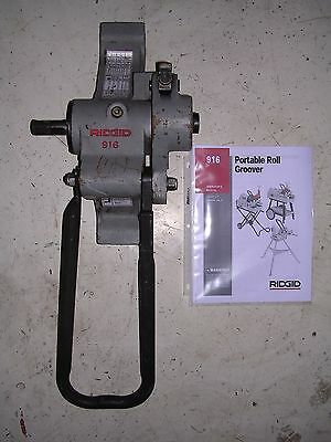 Ridgid 916 Roll Groover 975 300 300 Compact 535 1822 Pipe Threader 1-14-6 Pipe