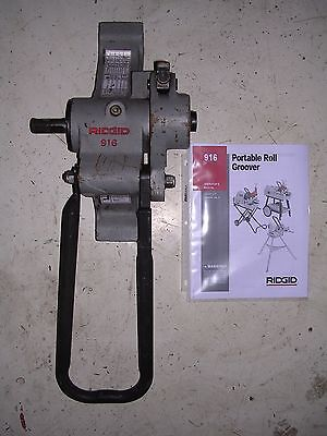 """RIDGID 916 ROLL GROOVER 975 300 300 COMPACT 535 1822 PIPE THREADER 1-1/4-6"""" PIPE"""