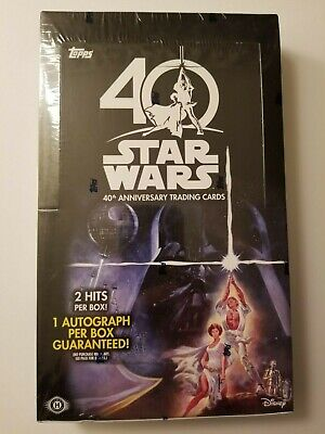 Star Wars 40th Anniversary Trading Card Hobby Box Topps 2017 SEALED