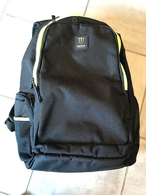 Monster Energy Promotional Gear Backpack Book Bag w/Laptop Slot Green Black RARE, used for sale  Shipping to Canada