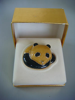 Estée Lauder Panda Bear Solid Perfume Compact in Original Box