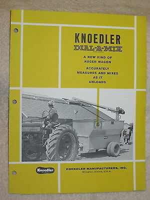 1950s Knoedler Dial-a-mix Auger Wagon Brochure Nice